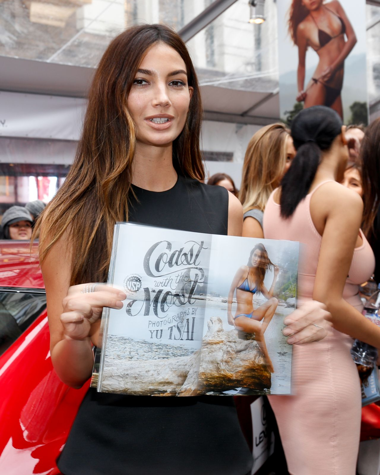 Lily Aldridge – Sports Illustrated Celebrates Swimsuit 2015 with 'Swim City' in New York