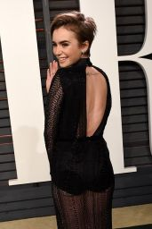 Lily Collins - 2015 Vanity Fair Oscar Party in Hollywood