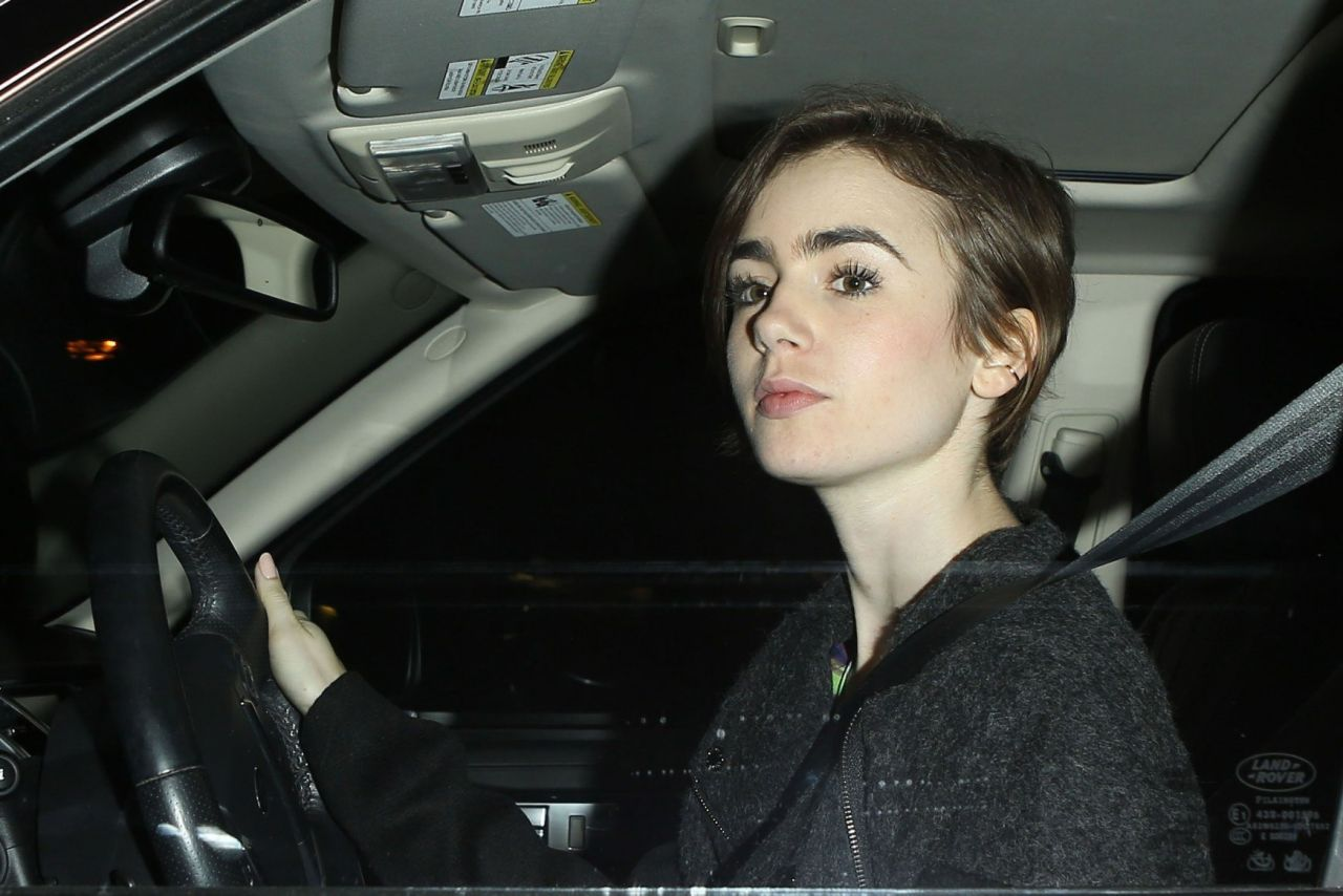 Lily Collins - Leaving Sunset Marquis Hotel in Los Angeles