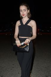 Lily Collins Night Out Style - Leaving The United Talent Agency Party, Feb. 2015