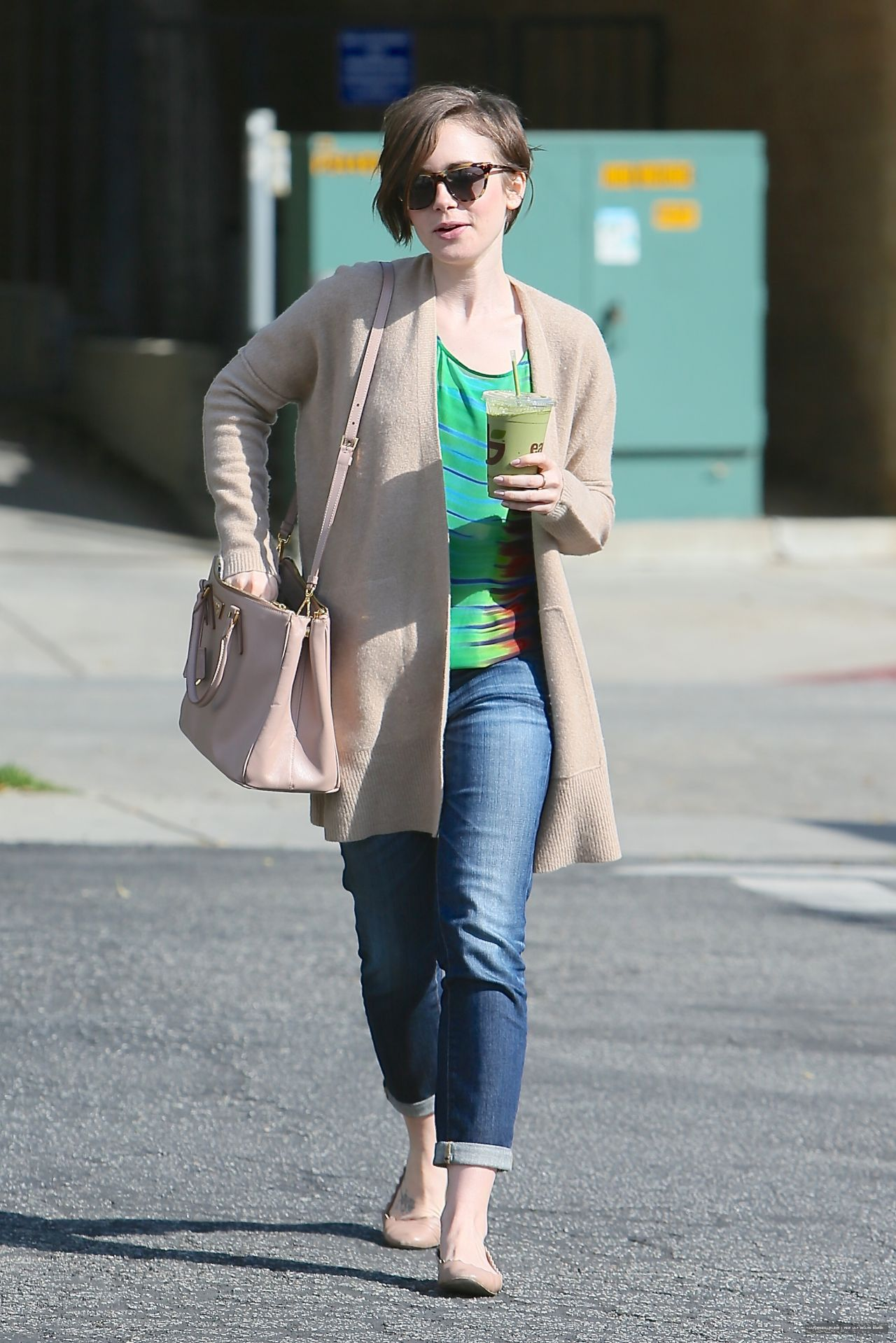 lily collins street style out in west hollywood