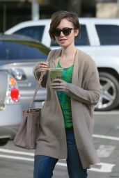 Lily Collins Street Style - Out in West Hollywood, February 2015