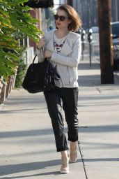 Lily Collins Style - Out in West Hollywood, February 2015