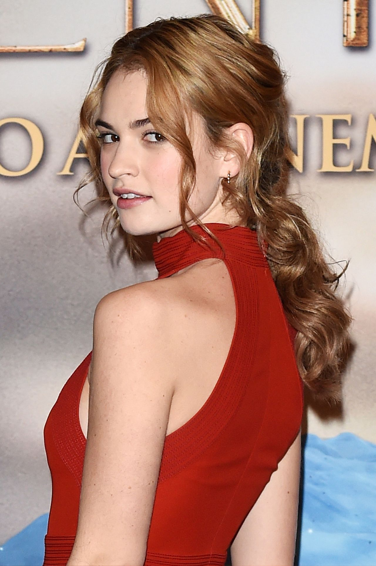 Lily James Cinderella Photocall In Milan