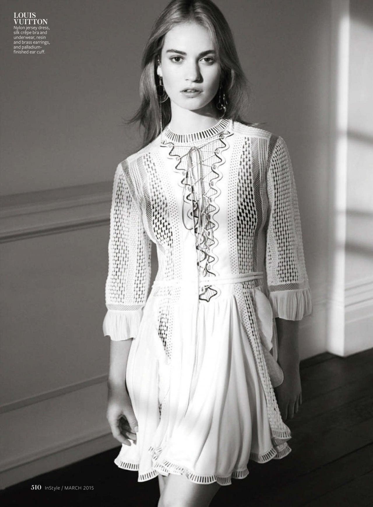 Lily James – InStyle Magazine (US) March 2015 Issue
