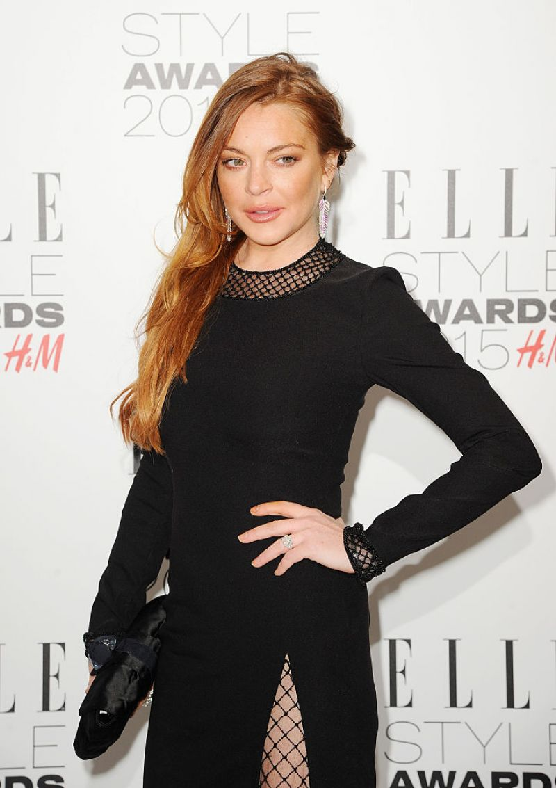 Lindsay Lohan - 2015 Elle Style Awards in London линдси лохан