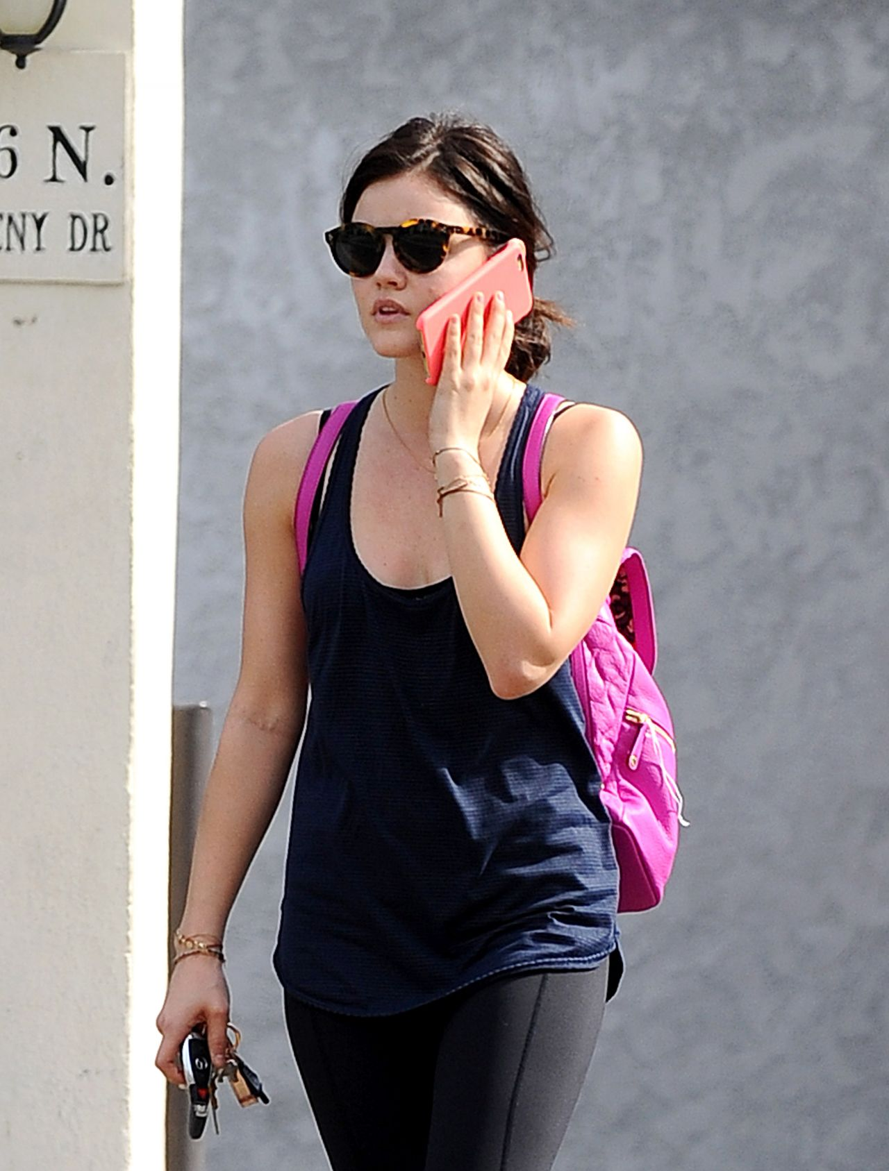 Lucy Hale Street Style - Heading to the Gym in West Hollywood, Feb. 2015