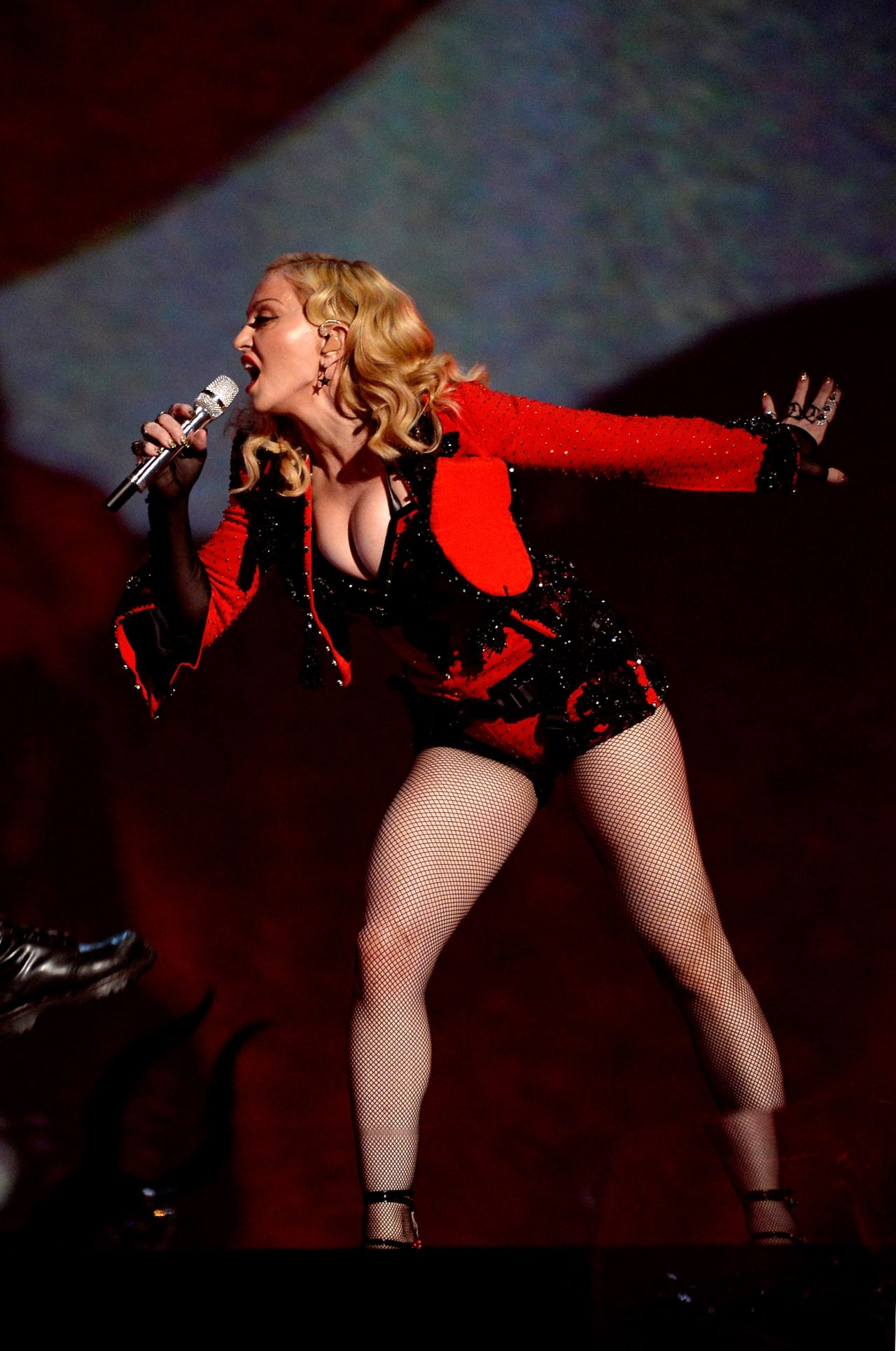 Madonna Performs At 2015 Grammy Awards In Los Angeles