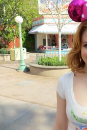 Maitland Ward - Candid Photoshoot at Disneyland in Anaheim, Feb. 2015