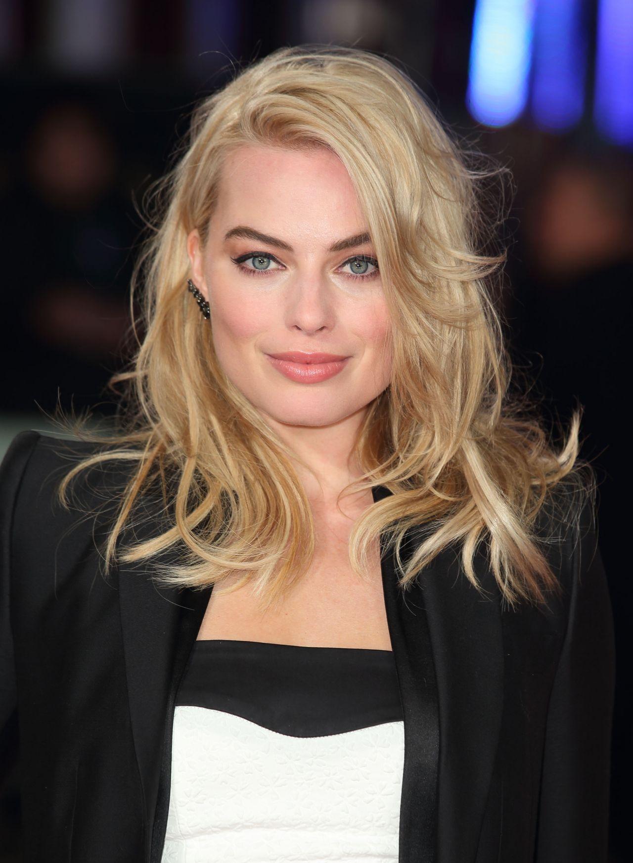 Margot Robbie On Red Carpet Focus Screening In London