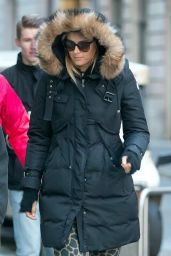 Maria Sharapova Winter Style - Out in Krakow in Poland, February 2015