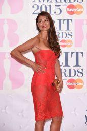 Melanie Sykes - 2015 BRIT Awards in London