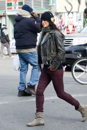 Michelle Rodriguez Street Style - Out in NYC, February 2015