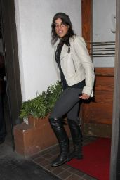 Michelle Rodriguez Style - Dines Out At Madeo Restaurant, Feb 2015