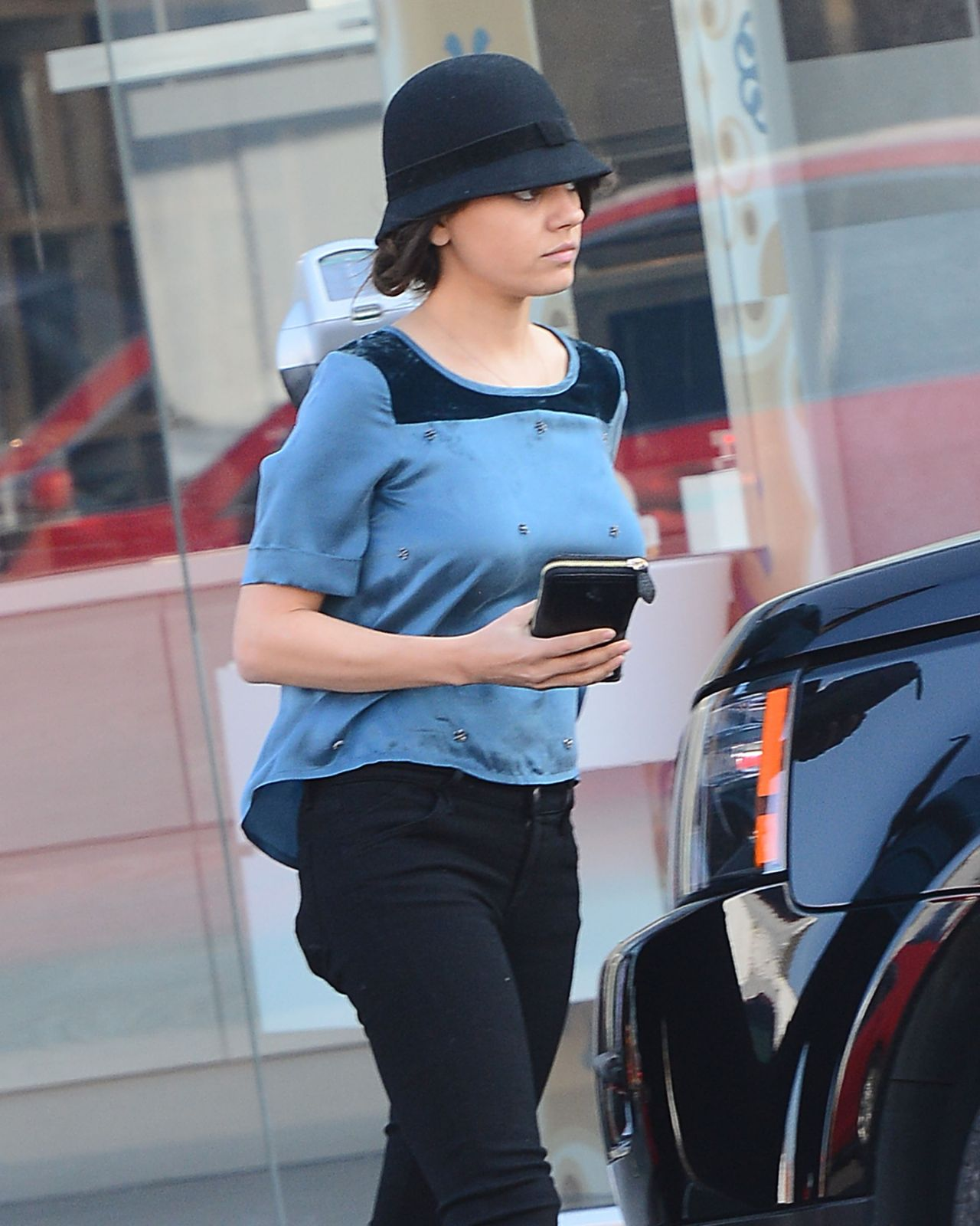 Mila Kunis Street Style - Leaving Sweet Lady Jane Bakery in Los Angeles, Feb. 2015