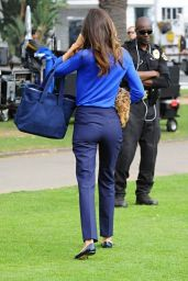 Miranda Kerr Style - Shooting a Commercial in Santa Monica, February 2015