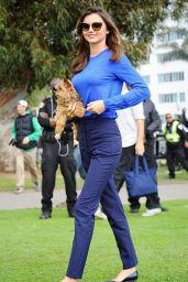 Miranda Kerr Style - Shooting a Commercial in Santa Monica, February 2015