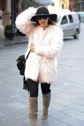 Myleene Klass - Arriving at Smooth FM in London, February 2015
