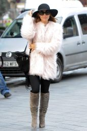 Myleene Klass - Arriving at Smooth FM in London, February 2015