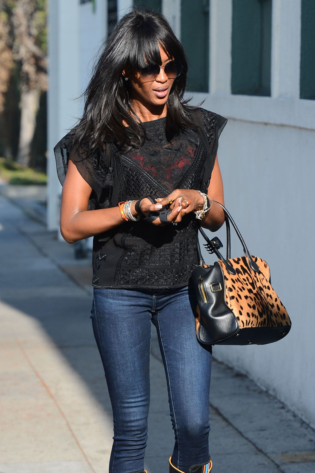 Naomi Campbell Street Style Out In Beverly Hills