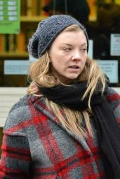 Natalie Dormer Winter Style - Out in London, February 2015