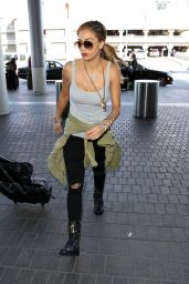 Nicole Scherzinger - at LAX Airport, February 2015