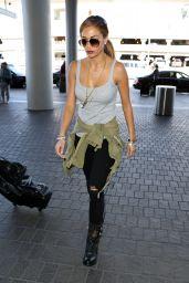 Nicole Scherzinger - at LAX Airport, February 2015
