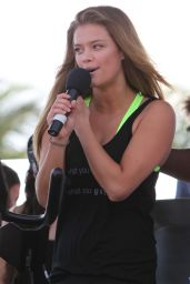 Nina Agdal - SuperSweat Redbike Spinning Event in Miami, Feb. 2015