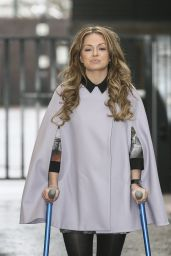 Ola Jordan - Leaving the ITV Studios in London, February 2015