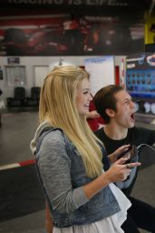 Olivia Holt - Dylan Riley Snyder Races Into His 18th Year With Nintendo at K1 Speed in Gardena, California