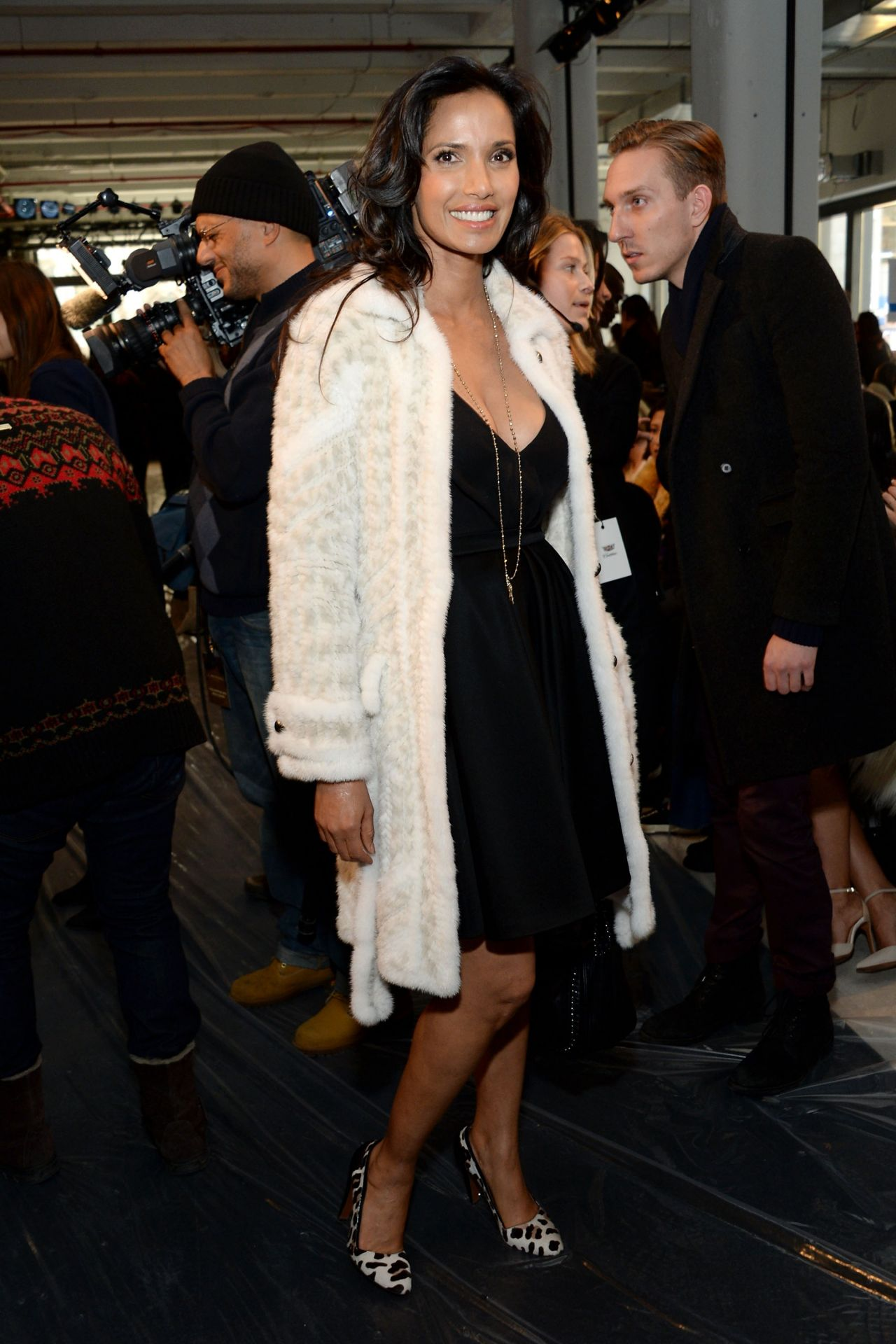 Padma Lakshmi - J. Mendel Fashion Show in New York, February 2015