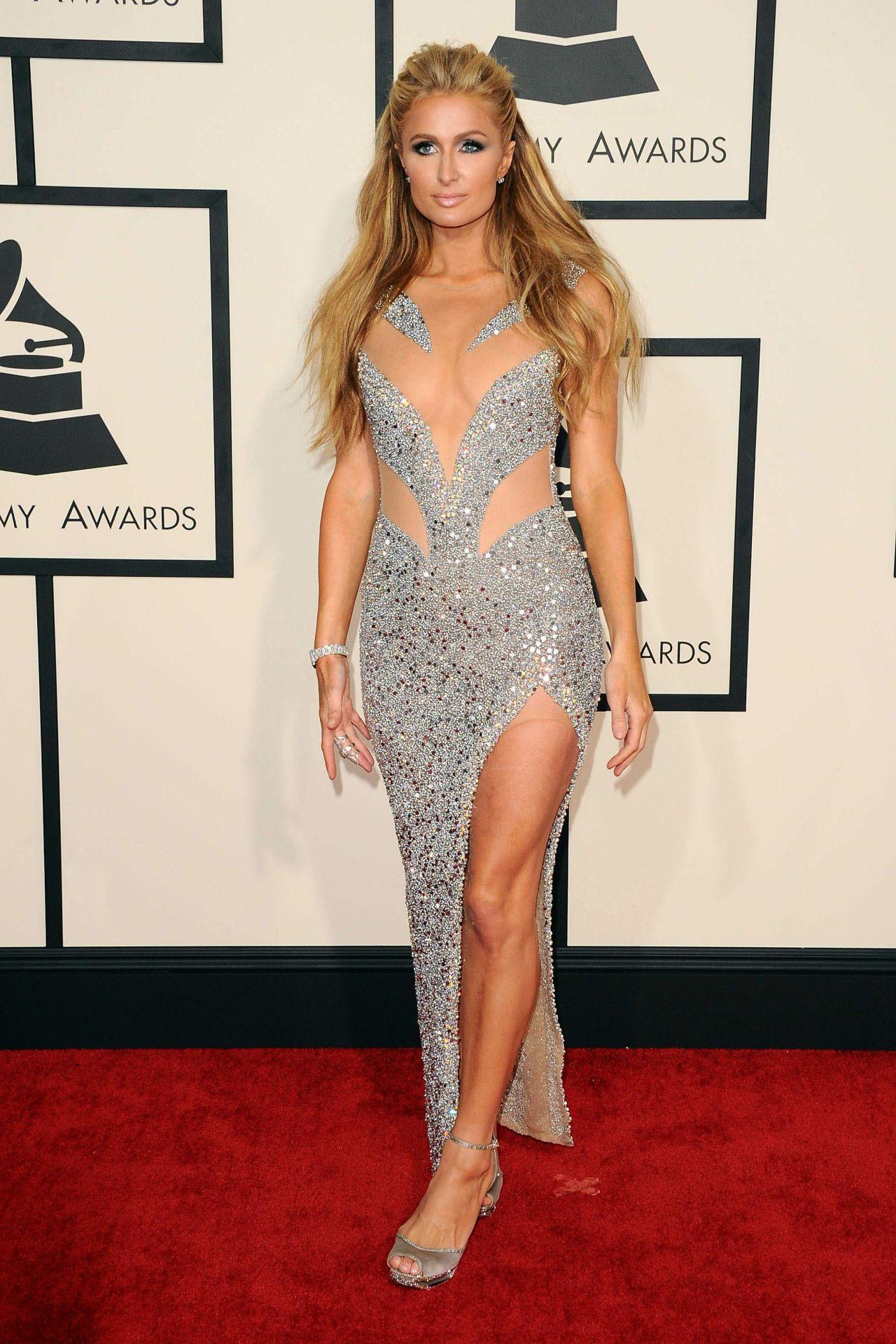 Paris Hilton 2015 Grammy Awards In Los Angeles