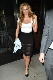 Paris Hilton Night Out Style - Leaves The Palm Restaurant in Los Angeles, February 2015
