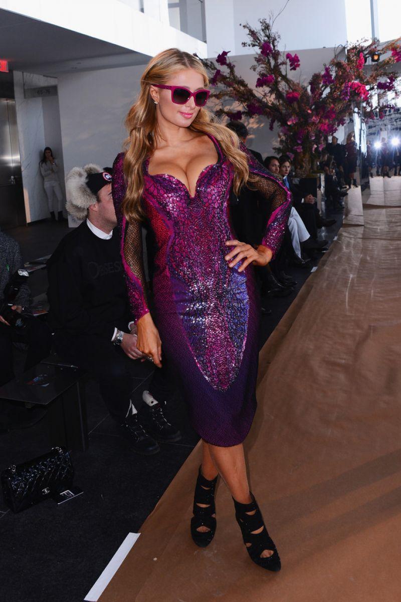 Paris Hilton 2015 Celebrity Photos Style Gabriela Cadena Fashion Show In New York City Feb