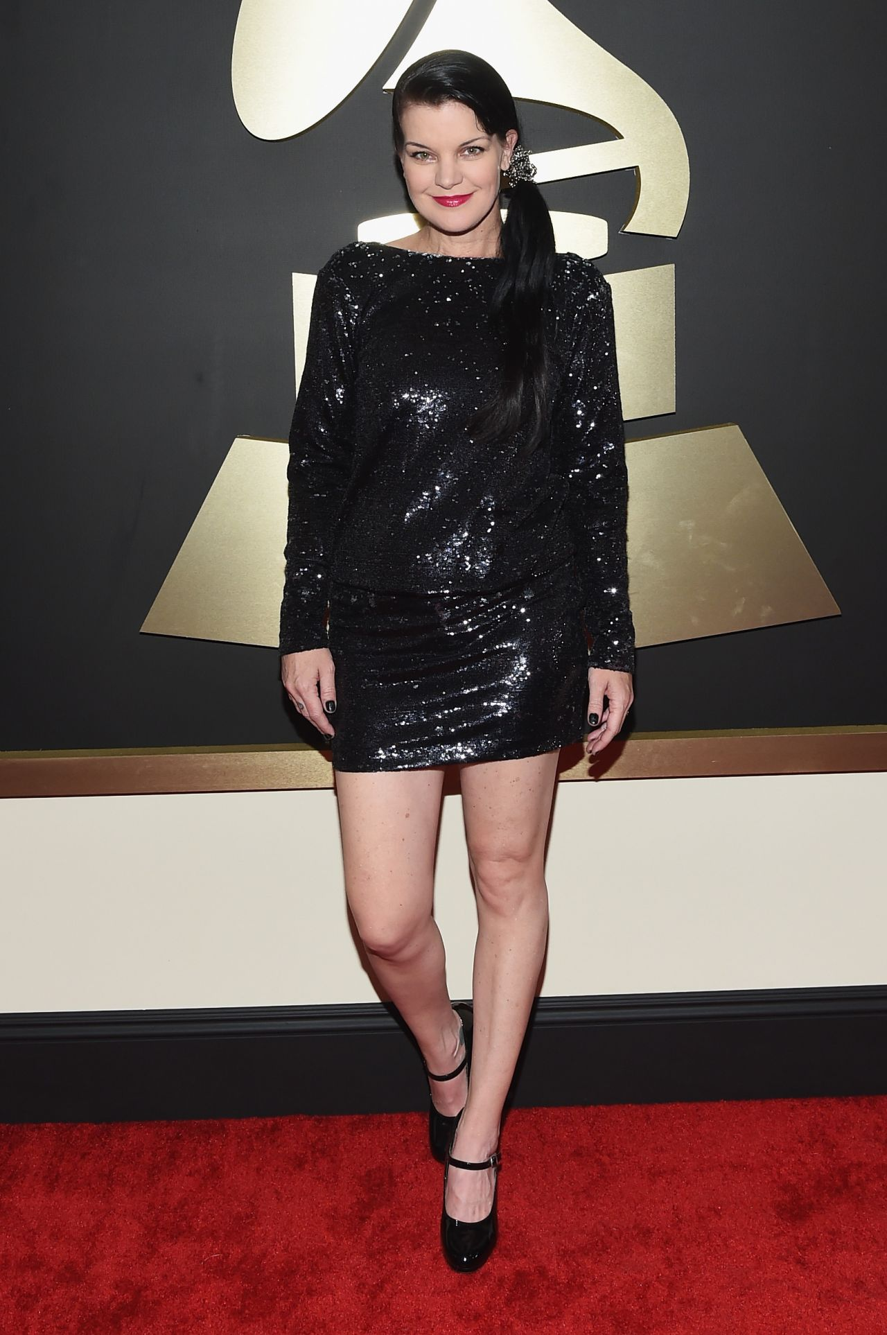 Pauley Perrette 2015 Grammy Awards In Los Angeles