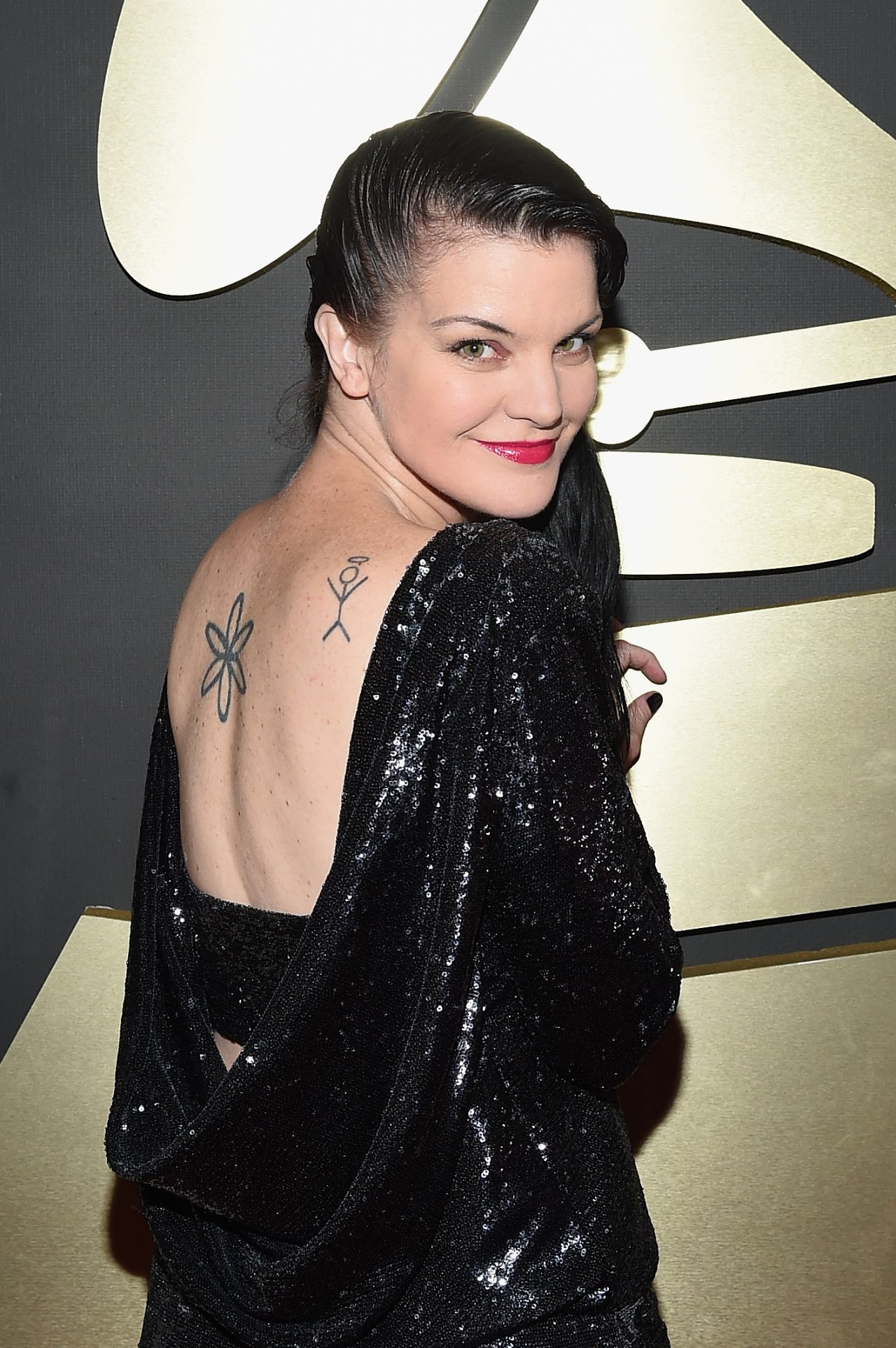 Pauley Perrette – 2015 Grammy Awards in Los Angeles