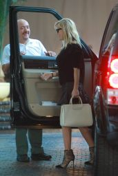 Reese Witherspoon in Mini Skirt - Chateau Marmont in West Hollywood, February 2015