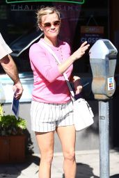 Reese Witherspoon in Shorts - Out in Brentwood, February 2015