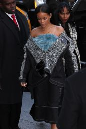 Rihanna Fashion- Arriving at Kanye West