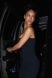 Rihanna Night Out Style - 1OAK Night Club in Los Angeles, February 2015