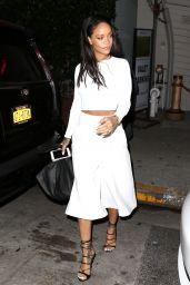 Rihanna Style - at Giorgio Baldi Restaurant in Los Angeles, Feb. 2015