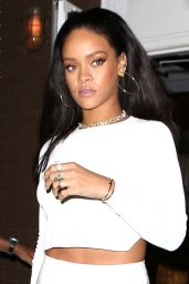 Rihanna Style - at Giorgio Baldi Restaurant in Los Angeles, Feb. 2015