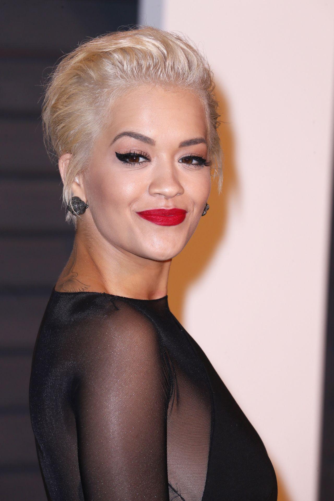 Rita Ora Fashion Shoot Photos: 2015 Vanity Fair Oscar Party In Hollywood