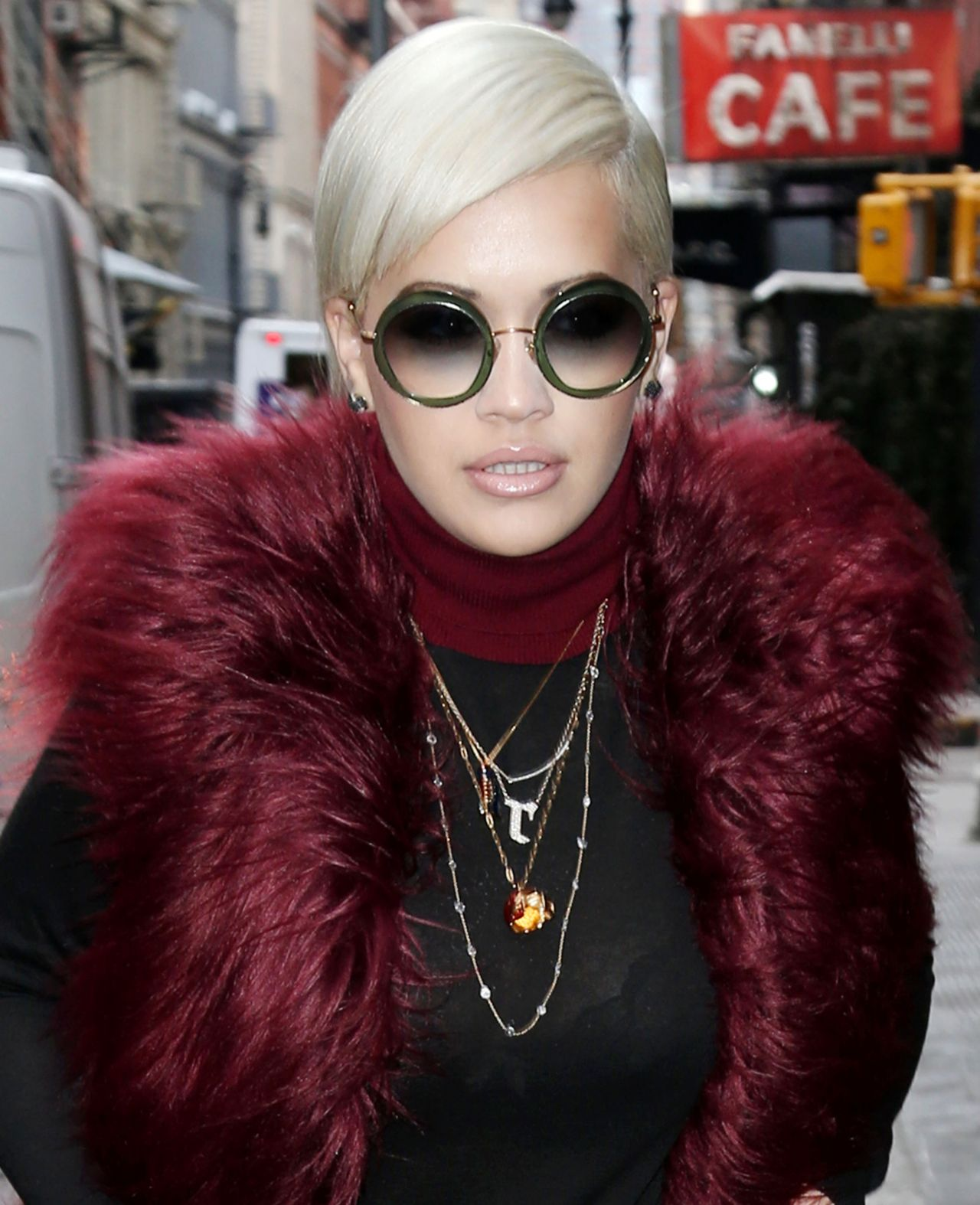Rita Ora - Arriving at Tommy Hilfiger Fall/Winter 2015 Show in New York
