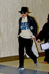Rita Ora - at JFK Airport in New York, Feb. 2015