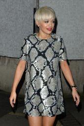 Rita Ora Night Out Style - The London TV Studios, February 2015