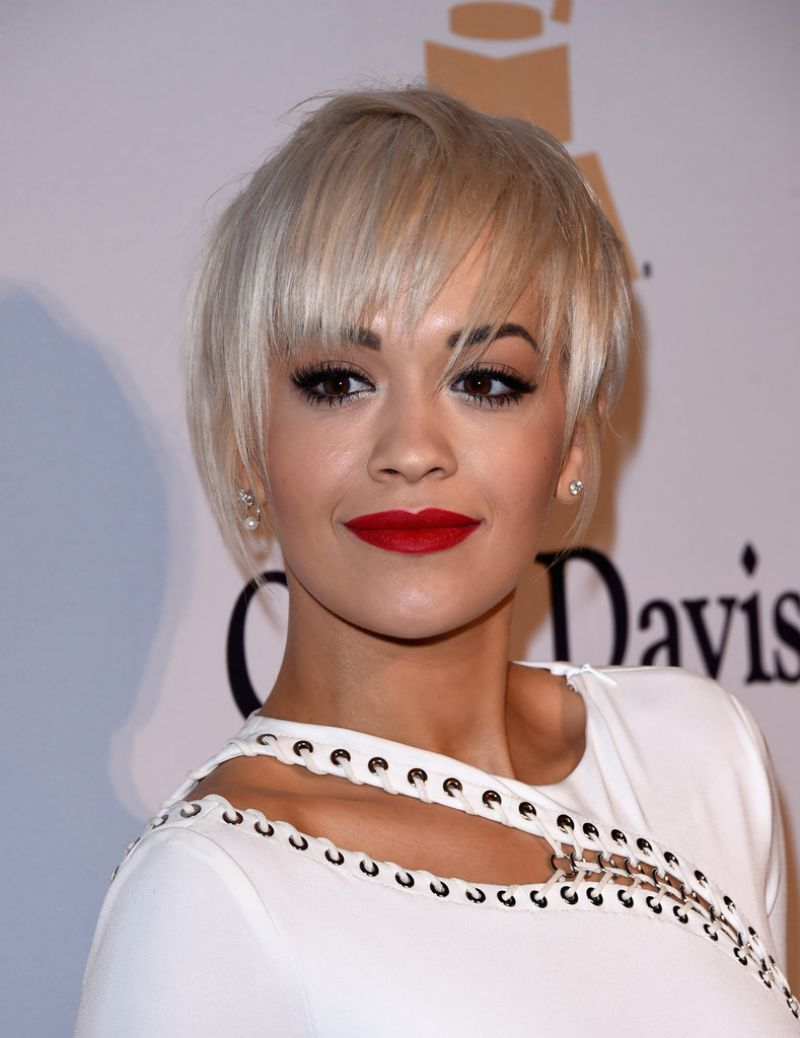 rita ora pre grammy 2015 gala and salute to industry icons in los angeles. Black Bedroom Furniture Sets. Home Design Ideas