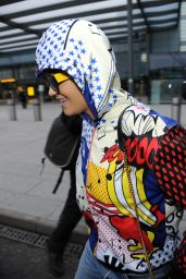 Rita Ora Street Style - Heathrow Airport in London, February 2015