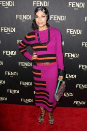 Rosario Dawson – Fendi New York Flagship Boutique Inauguration Party, February 2015