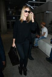 Rosie Huntington-Whiteley - at LAX AIrport, February 2015